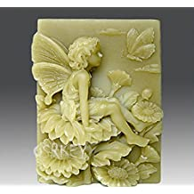 Longzang Butterfly Fairy Silicone Mold Craft Art Silicone Soap Mold Craft Molds DIY Handmade Soap Molds (S084)