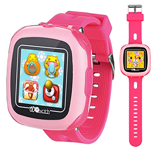 Kids Smartwatches with Games for Boys Girls - Smart Watches with Pedometer Fitness Tracker Digital Camera Alarm Clock Children's Smart Wrist Sports Watch Kids Birthday Gifts Learning Toys (Pink)