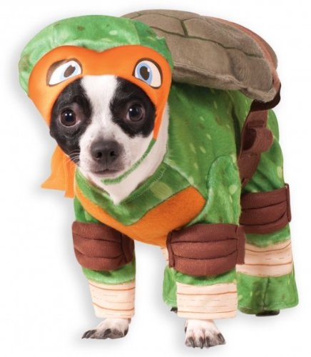 Rubies Costume Company Teenage Mutant Ninja Turtles Michelangelo Pet Costume, (Teenage Princess Costumes)