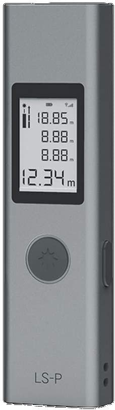Mini Láser Range Finder 40m LS-P USB Flash Medidor de Rango de Carga de Alta Precisión Telémetro Portátil de Mano