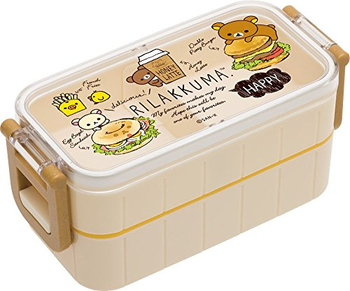 Rilakkuma 2 Point Lock Bento Lunch Box With Chopsticks