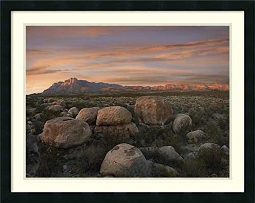Framed Art Print 'Boulders at Guadalupe Mountains National Park, Texas' by Tim Fitzharris