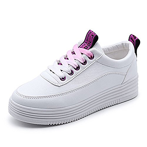 仲間、同僚嫌がる文字ガールズ スニーカー レディース 人気 板鞋 カジュアルシューズ おしゃれ 白い板鞋 高まる 软皮 ジュニア 通学 学生 高校生 ホワイト 厚底靴