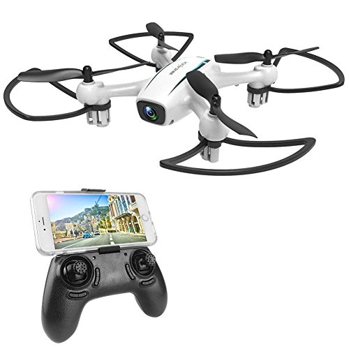 WINGLESCOUT Drone with Camera, FPV RC Quadcopter with 720P HD WiFi Live Video Camera , Remote Control Helicopter with Altitude Hold and Trajectory Flight for Beginners and Kids -