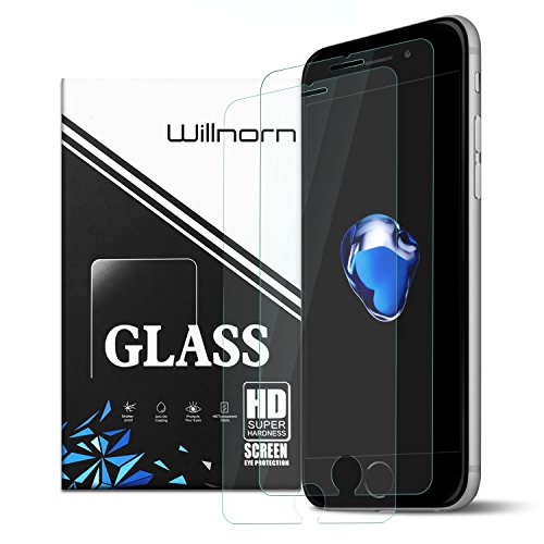 iPhone 7 Plus Screen Protector, Willnorn [Norn Armor] Ultra-proof HD Clear Tempered Glass Screen Protector for iPhone 7 Plus / 6s Plus / 6 Plus (2 Pack)
