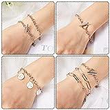 26 Pieces Chain Bracelet Round Link Chain Bracelets