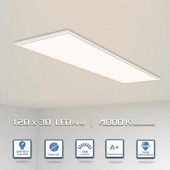 Naturel 4000k X Luminaire 120 Cadre De Éclairage Salon 30cm Blanc Argenté 4000lm 48w Pour Oubo Plafonnier Suspension Led Slim Plafond Panneau qpzVGMUS