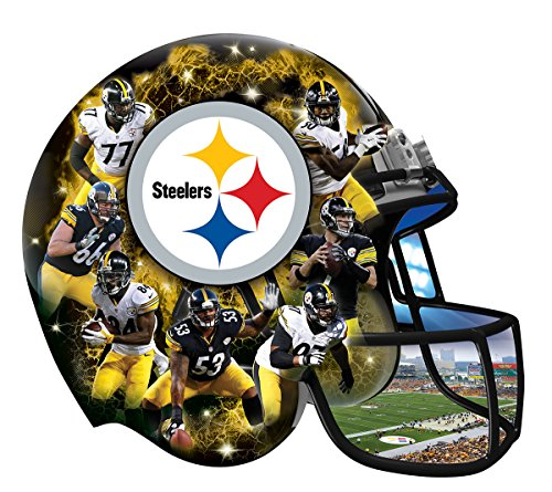 NFL Pittsburgh Steelers 500 Piece Helmet Puzzle from Masterpiece Puzzle
