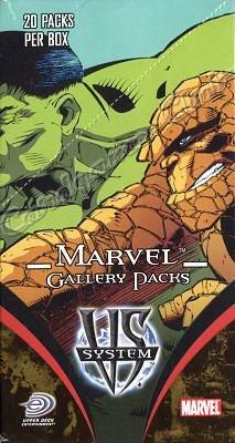 Versus System - Marvel Gallery Pack display 20 buste (Inglese) UPPER DECK
