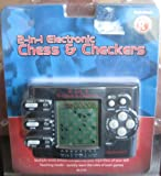 Electric Handheld 2-in-1 Chess & Checkers Game