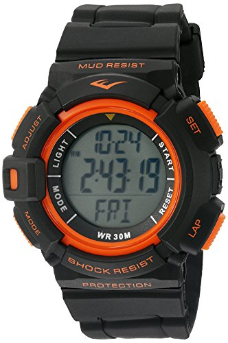 Everlast 'Heart Rate Monitor' Automatic Plastic and Rubber Fitness Watch - Color:Black (Model: EVWHR004BK)