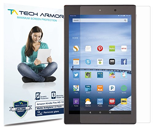 Kindle Fire HD Screen Protector, Tech Armor Anti-Glare/Anti-Fingerprint Amazon Kindle Fire HD 10
