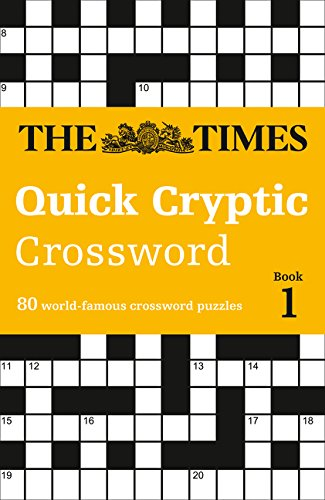 The Times Quick Cryptic Crossword Book 1 Paperback – August 1, 2016 HarperCollins UK 0008139814 Games / Puzzles Games / Quizzes