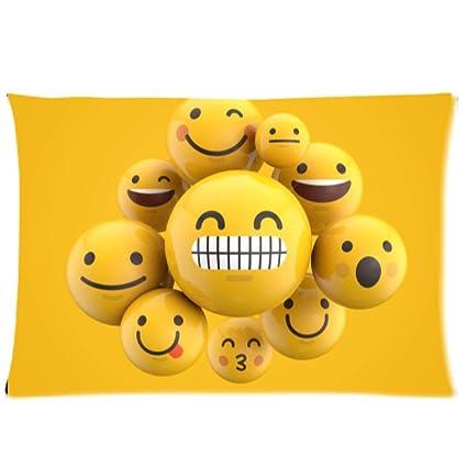 Amazon com: COL DOM Emoji Pillowcases Custom Soft-Home