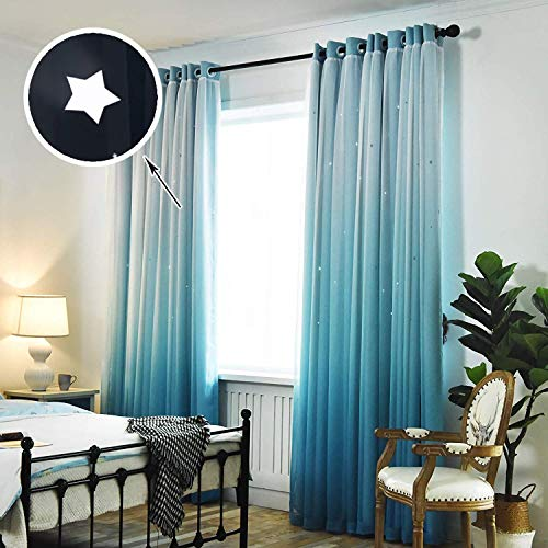 Hughapy Star Curtains Stars Kids Curtains for
