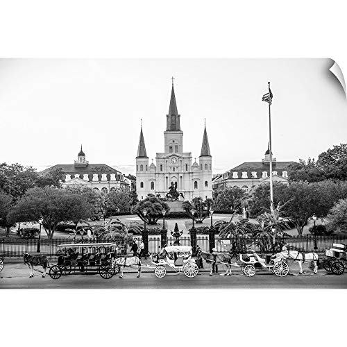 CANVAS ON DEMAND St. Louis Cathedral and Jackson Square, New Orleans, Louisiana Wall Peel Art Print, 18