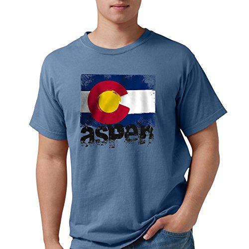 CafePress Aspen Grunge Flag T-Shirt Mens Comfort Colors Shirt (Snowmass Village Aspen)