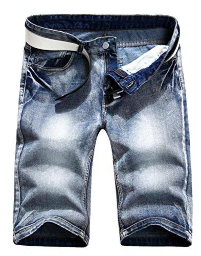 Somo Lite Men's Vintage Summer Mid Waist Denim Short