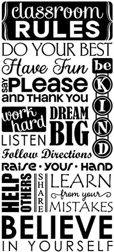 JS Artworks Classroom Rules Do Your Best Have Fun Say Please. Vinyl Wall Art Decal Sticker