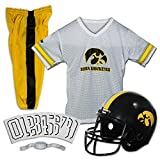 Franklin Sports NCAA Iowa Hawkeyes Kids College Football Uniform Set - Youth Uniform Set - Includes Jersey, Helmet, Pants - Youth Medium
