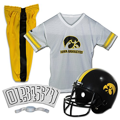 Hawkeyes Ncaa Iowa (Franklin Sports NCAA Iowa Hawkeyes Deluxe Youth Team Uniform Set, Medium)