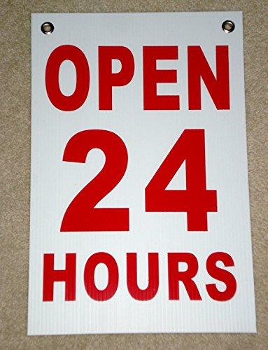 1-pc-peerless-popular-open-24-hours-signs-hanging-shop-waterproof-plastic-coroplast-size-12-x-18-wit