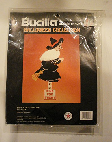 Bucilla Halloween Collection Ring For Treat Platsic Canvas Needlepoint