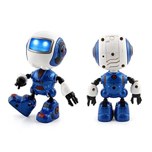 Gbell Kids Smart Mini Alloy Robot - Light Music Sensing Touch Multi-function Music Robot Toy Birthday Gift for Kids 3+ (Blue)