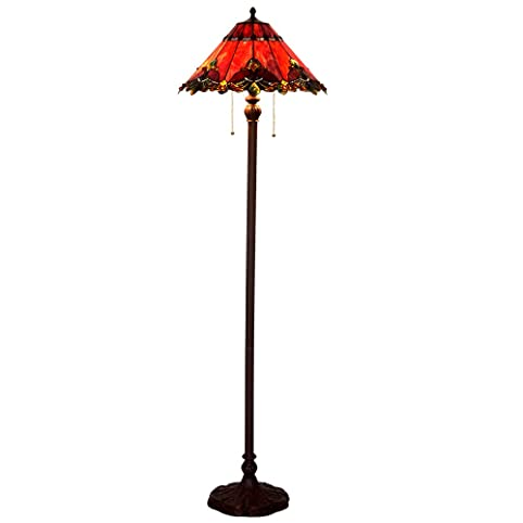 Bieye L10242 17-inch Baroque Tiffany Style Stained Glass Floor Lamp ...