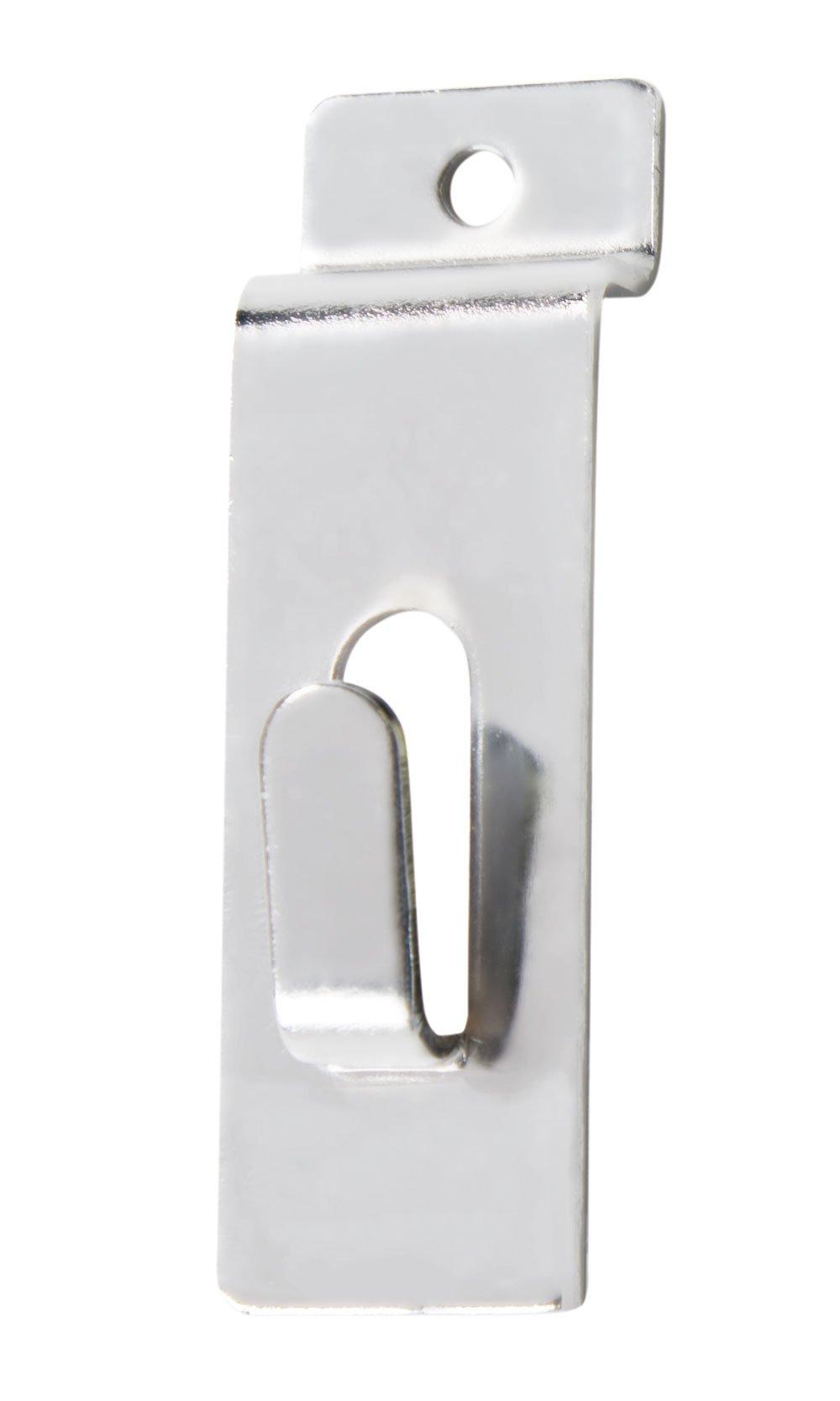 Chrome Notch Hook for Slatwall - Pack of 25