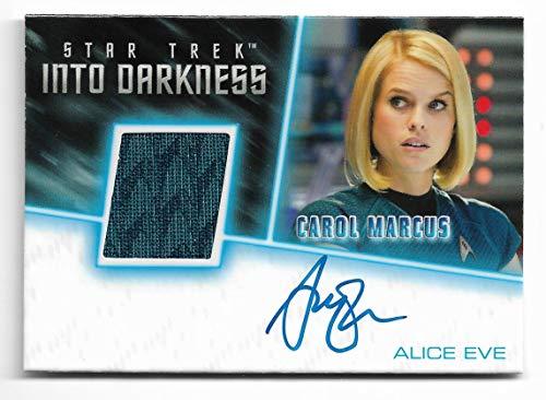 (2017 Rittenhouse Archives Star Trek Beyond Autograph Relic Alice Eve as Carol Marcus Star Trek Into Darkness