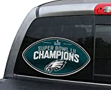 NFL Philadelphia Eagles Super Bowl Champ Window Film, One Size, Green