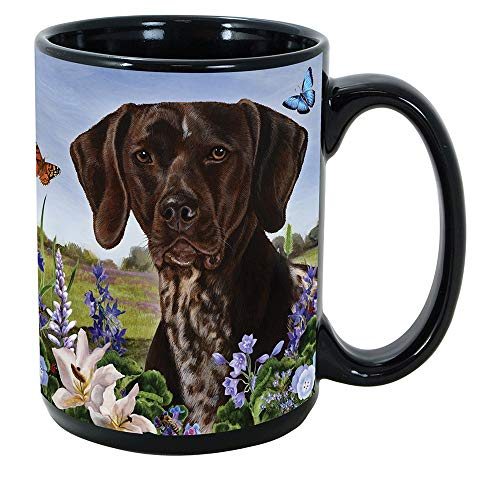 Imprints Plus Dog Breeds (E-P) German Shorthair Pointer 15-oz Coffee Mug Bundle with Non-Negotiable K-Nine Cash (german shorthair pointer 082)