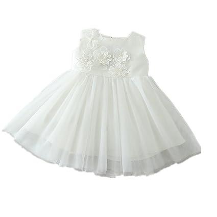 H/B bebé niña flor marfil 1 año Birhtday vestido bautizo 1522 marfil Talla: