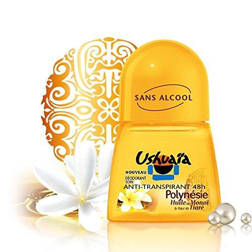 Deodorant Ushuaia Anti-transpirant sans alcohol Polynésie Huile de Monoï et Fleur de Tiaré 48 h Roll-on 50 ml ()