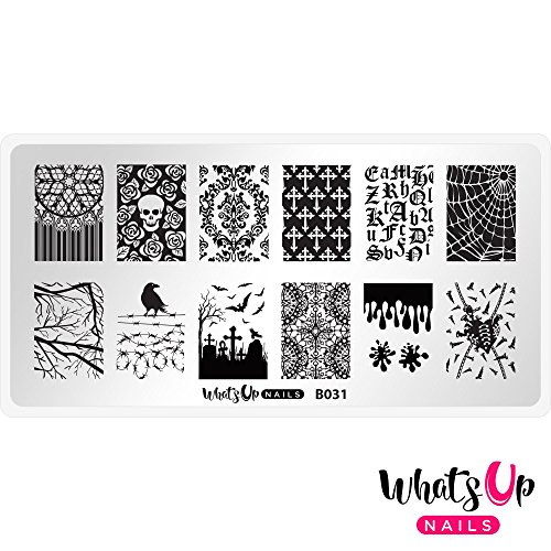 (Whats Up Nails - B031 Gothic Affection Stamping Plate for Halloween Nail Art)