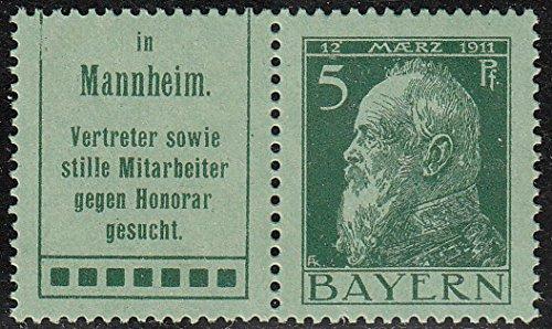Goldhahn Bayern W 1.52 postfrisch  Briefmarken für Sammler