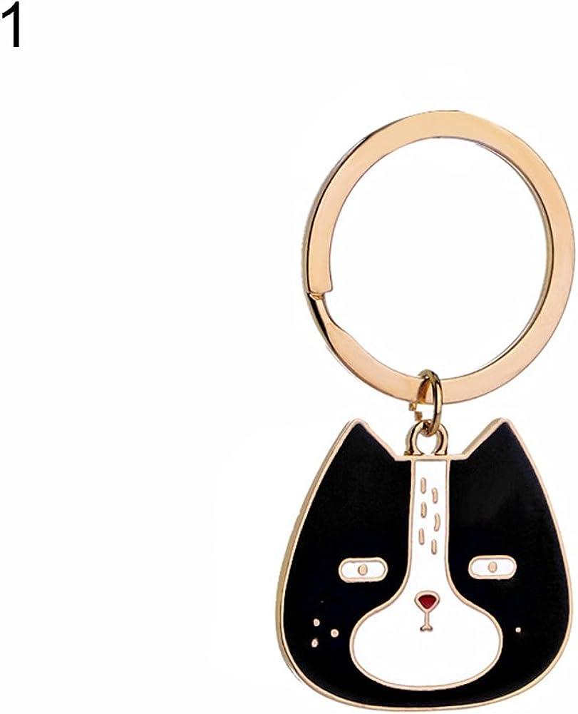 1# Aland Lovely Cartoon Dog Cat Teddy Keychain Pendant Key Ring Pouch Bag Decor Gift