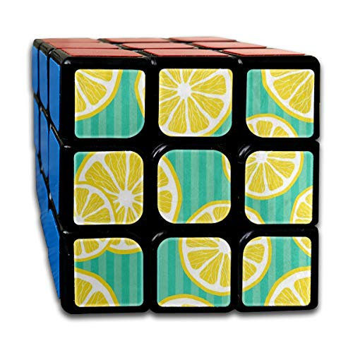 Speed Cube Fresh Lemon Green Stripe Personalized 3 x 3 Magic Cube For Children Intelligence Toy (Sticker)