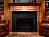 GHP 5200BTU Log Flame Effect Embedded Electric Fireplace Heater with Remote Control