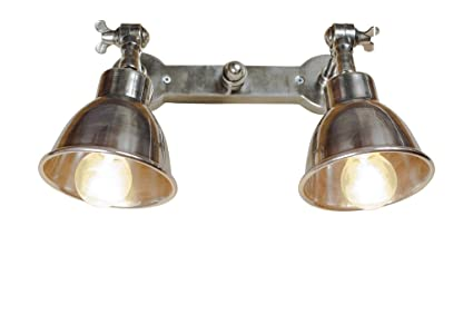 Pib lampade da parete doppia applique argentata in stile