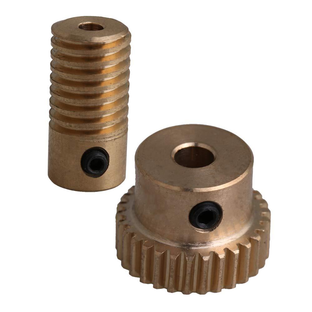 1:60 Brass Gear Shaft Worm 0.5 Modulus 6mm for Wheel Industrial Accessory