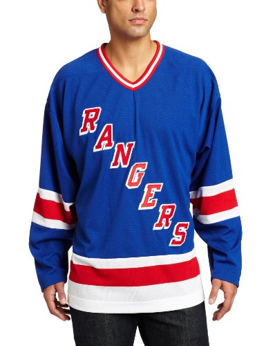 NHL Men's New York Rangers Team Classic Jersey (Blue, X-Large)