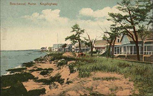 Beachwood, Kingshighway Old Orchard Beach, Maine Original Vintage Postcard