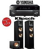 Yamaha AVENTAGE RX-A1070BL 7.2-Ch 4K Network AV Receiver + Klipsch RP-280F + Klipsch R-112SW - 2.1-Ch Home Theater Package (Piano Black)