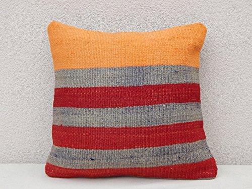 """Oriental Kilim Pillow Bohemian Cushion Cover Old Pillows Sofa Art 16 x 16"""""""