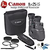 Cheap Canon 8×25 IS Image Stabilized Binocular Starters Bundle