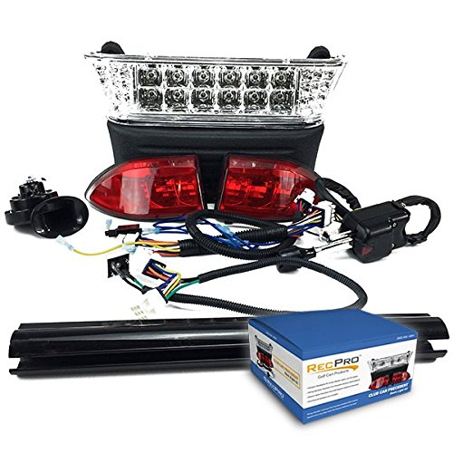 (RecPro CLUB CAR PRECEDENT GOLF CART LED DELUXE All LED LIGHT KIT W/ TURN SIGNALS 2004-2008)