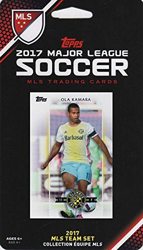 Columbus Crew 2017 Topps MLS Soccer Factory Sealed 8 Card Team Set with Ola Kamara - Olas Las The Company