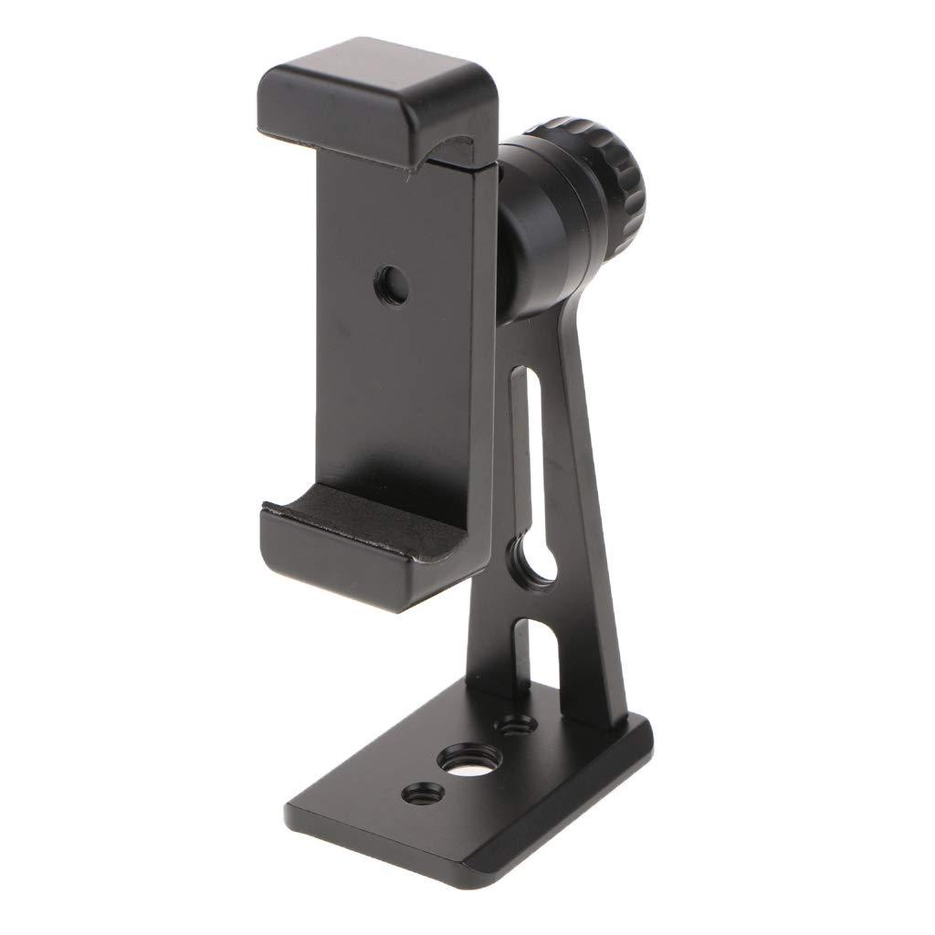MagiDeal Ulanzi ST-04 Phone Tripod Mount Adapter Vertical Bracket Smartphone Holder Selfie Monopod Adjustable Clamp Black